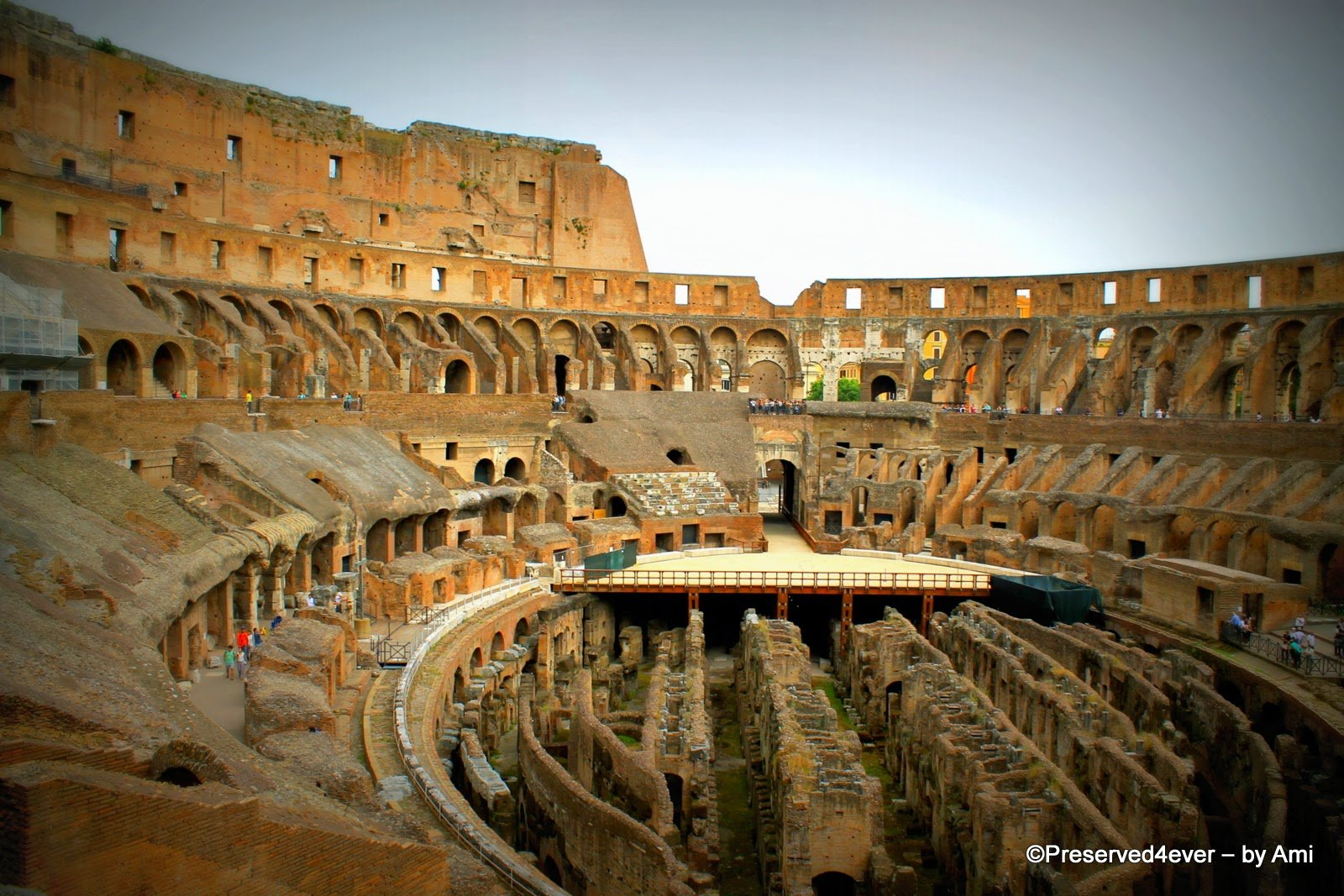 View from level One of the Colosseum