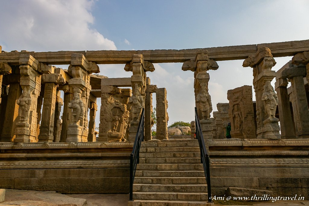 Entrance to the Kalyana Mandapa of Lepakshi Temple