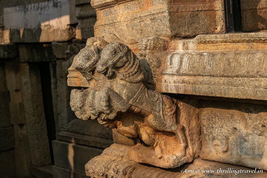 Corner brackets in Lepakshi Temple