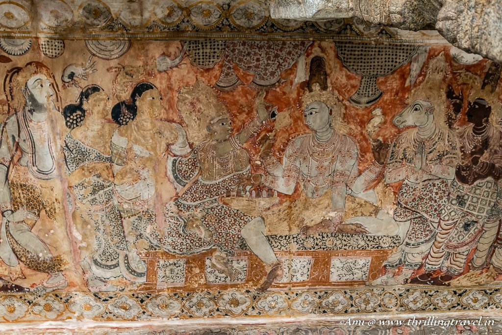 Murals on the ceilings of Lepakshi Temple