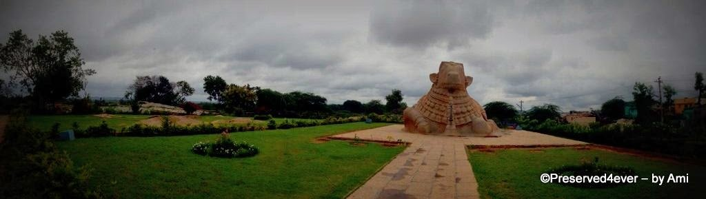Panorama of Monolithic Nandi, Lepakshi