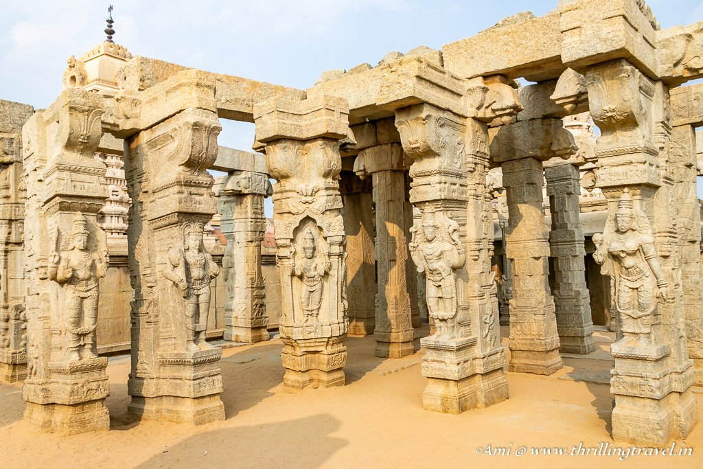 Exquisite Pillars of Lepakshi Kalyana Mandapa