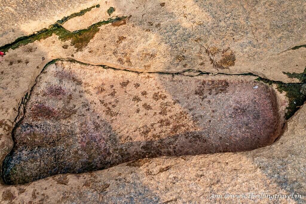 Sita's footprint, Lepakshi