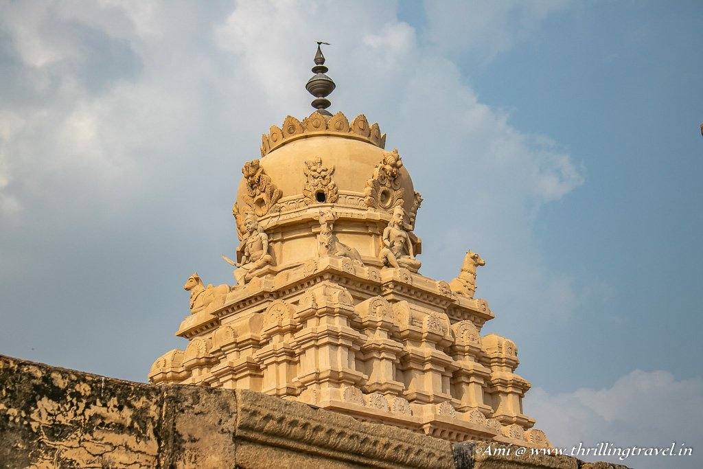 The Temple roof of Veerabhadra temple, Lepakshi