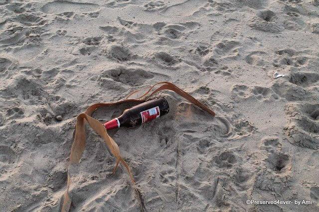 Trash on Kudle beach