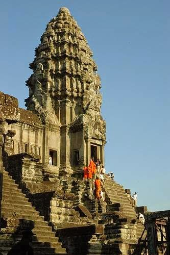Topmost level at Angkor Wat        Image Credits: Steve Cornish