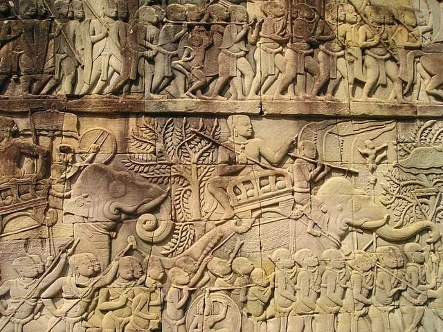 Carving of the Khymer Army                                                                                     Image Source:Pixabay