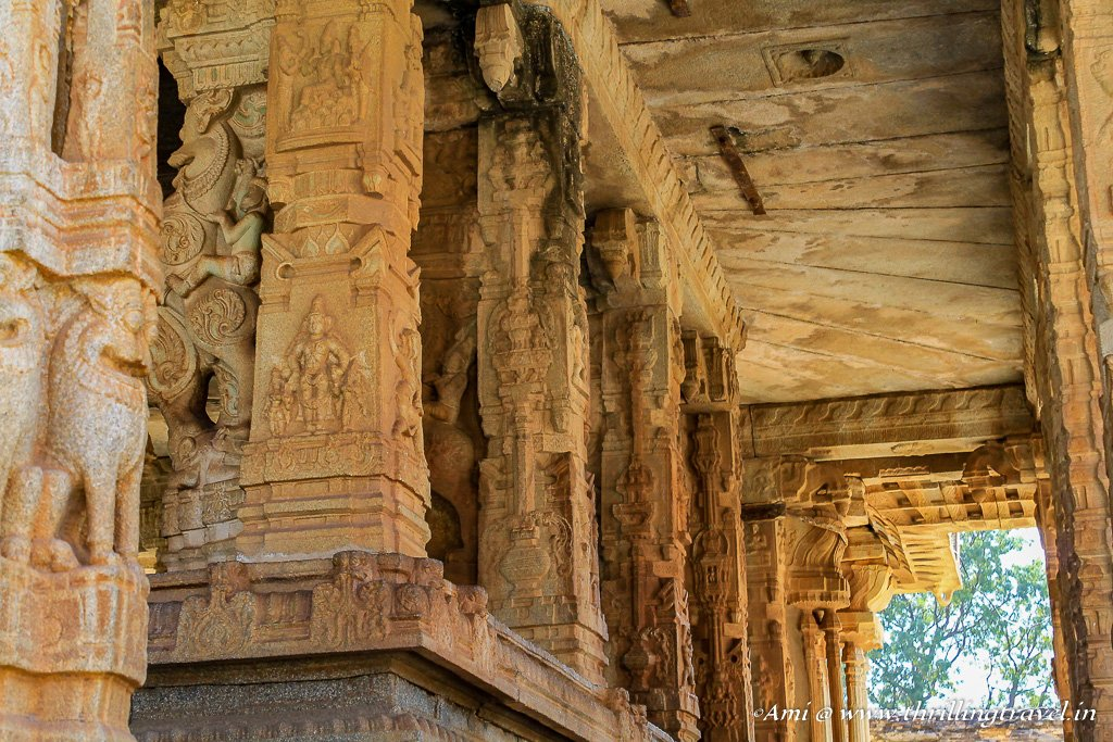Carved Pillars of one of the temples