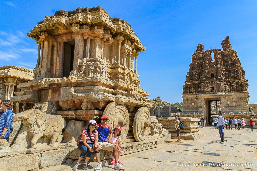 The Stone Chariot at Vittala Temple complex in Hampi