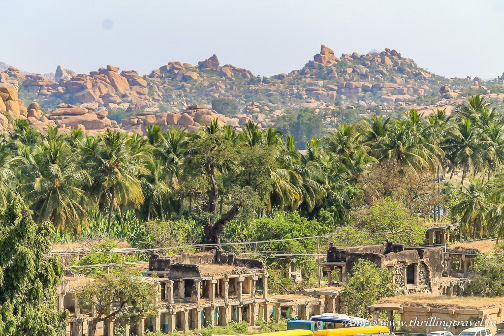 Hampi bazaar as seen from Hemakuta Hills