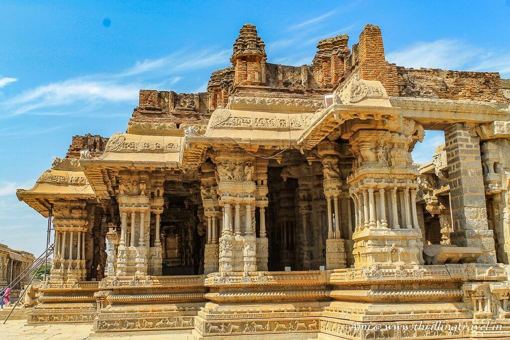 The Maha Mantapa with the Musical Pillars at Vittala temple