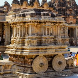 The Stone Chariot of Vittala Temple, Hampi