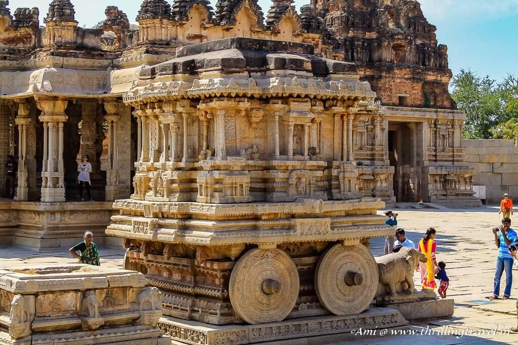 The Stone Chariot of Vittala Temple, Hampi