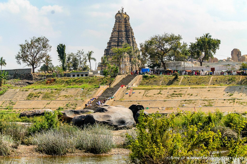 Virupaksha temple with its temple tank_