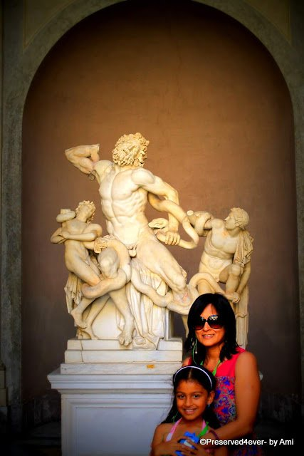 Statue of Laocoon and his sons at the Vatican Museum