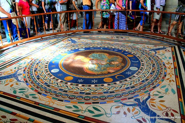 Beautiful Mosaic Floor enroute to the Gallery of Tapestries, Vatican Museum