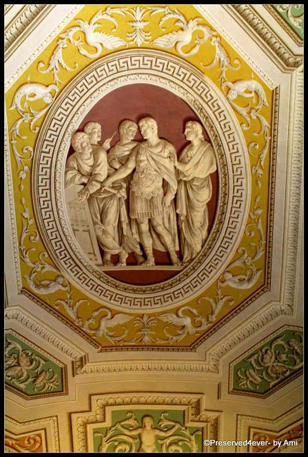3D Painted ceiling of the Gallery of Tapestries,Vatican Museum