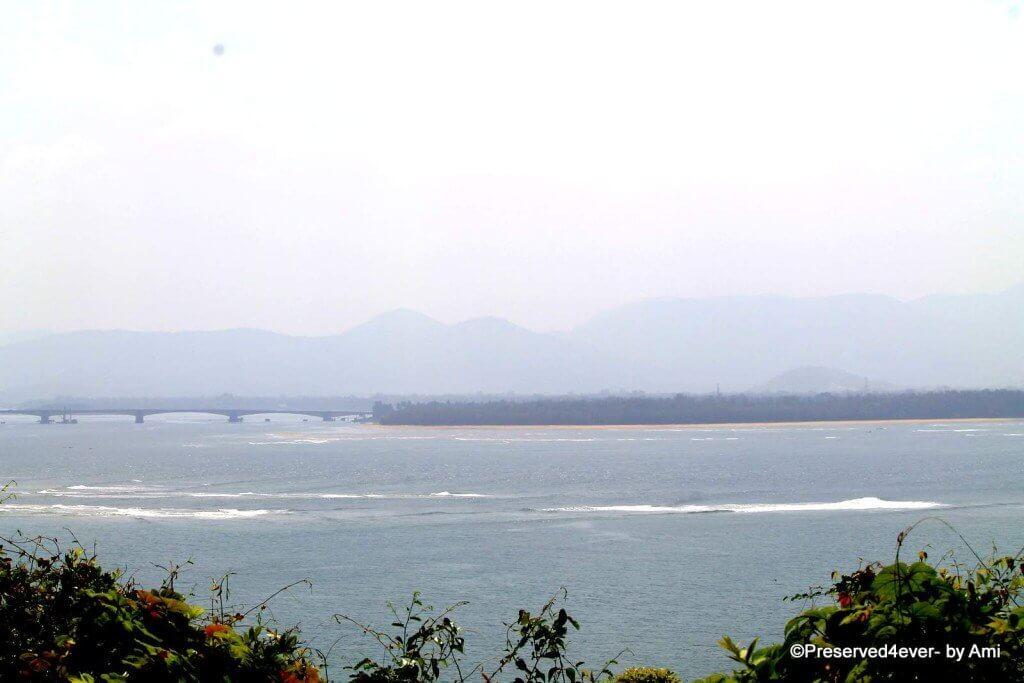 River Kali meets Arabian Sea at Karwar