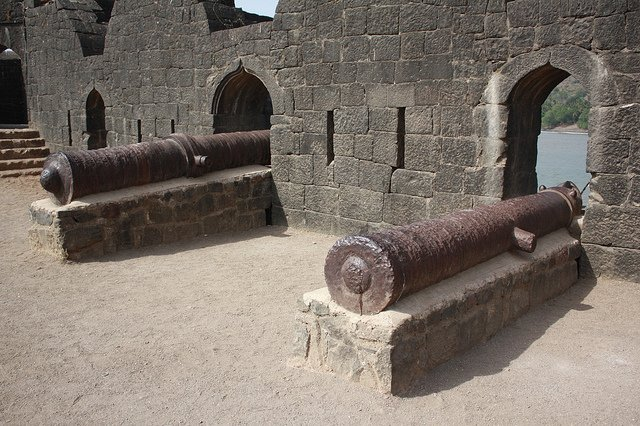 Cannons at the Janjira Fort