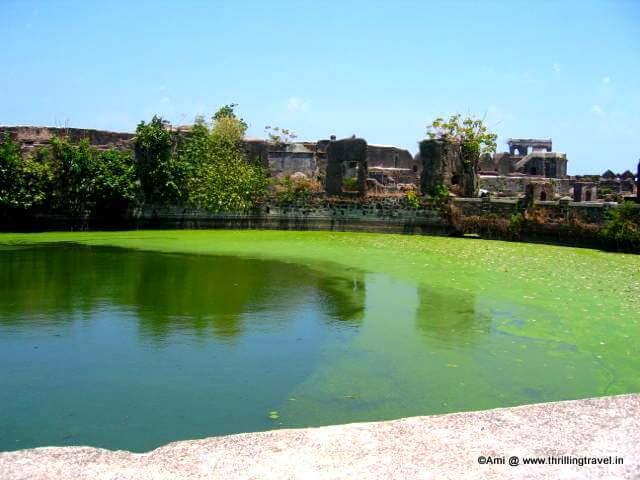 Fresh water tank within the Murud Janjira Fort