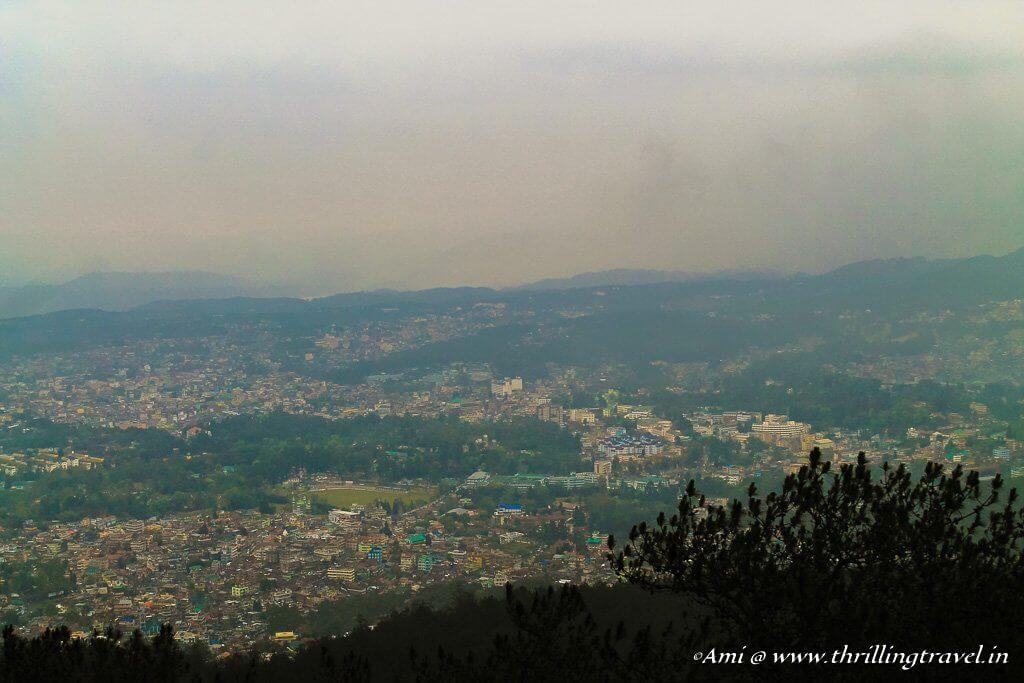 Shillong from Shillong Peak, Meghalaya