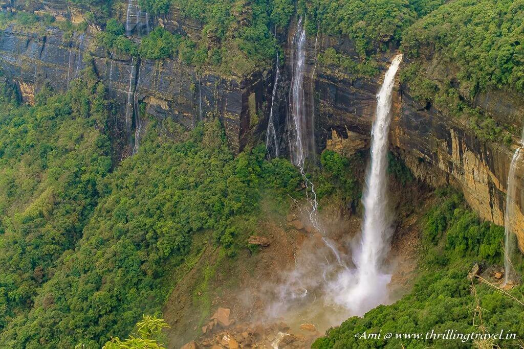 Nohkalikai falls in Cherrapunji, Meghalaya