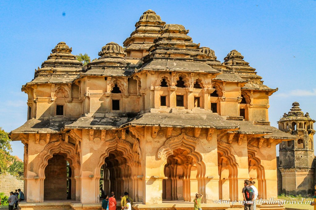 Lotus Mahal in Hampi - one of main places to visit in Hampi