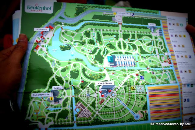 Map of Keukenhof park