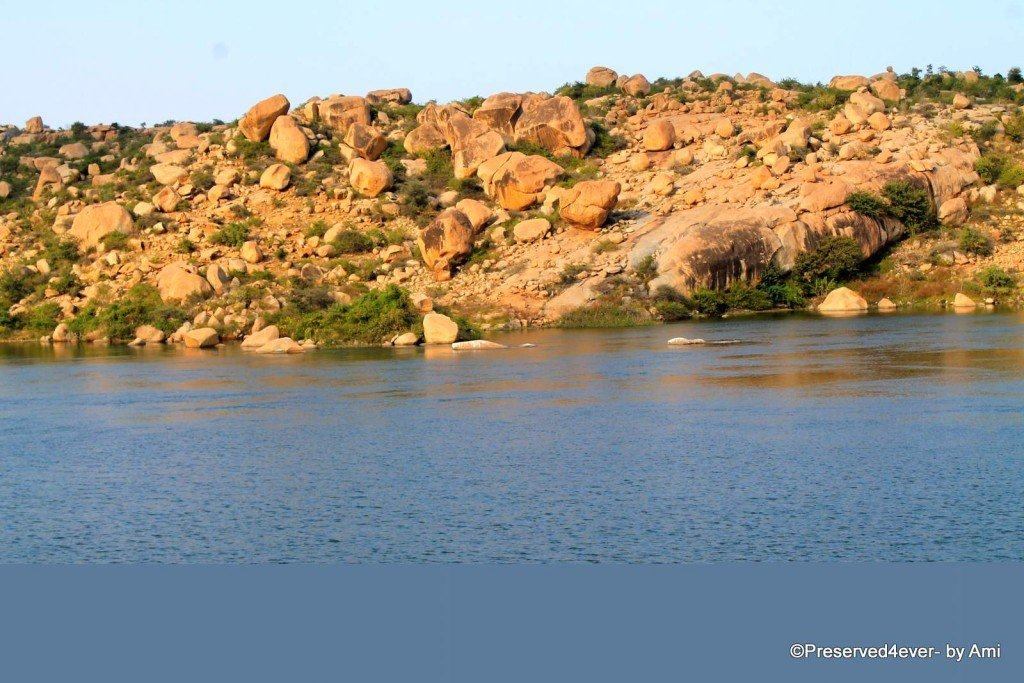 Sanapur Lake amidst the Rocks, Hampi