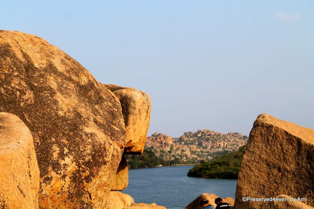 Sanapur Lake amidst the Rocks, Hampi
