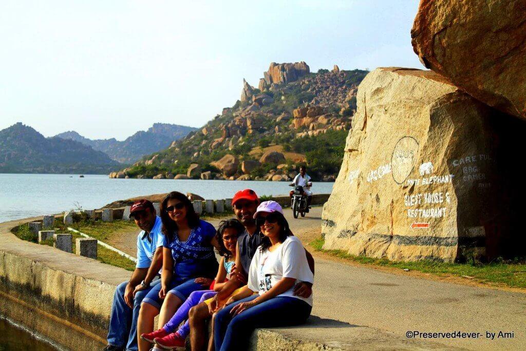 Along the bend of Sanapur lake, Hampi