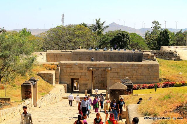 Concentric entrances of the Chitradurga Fort