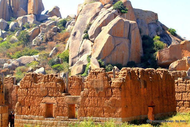 Ruined Mint and Treasury buildings at Chitradurga