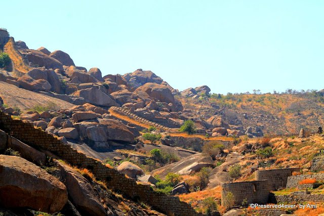 View of the fort from the Hidimbeshwari temple, Chitradurga Fort