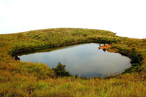 Heart Shaped Lake atop Chembra Peak                                                                     Image Credits: Tanuja