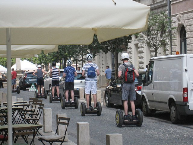 Segway tour                                                                                                                 Image Credits: Jules Joseph Under CC by NC ND 2.0