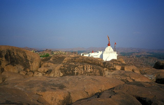 Hanuman temple on the Anjaneya Hill Image Credits: Sabamonin