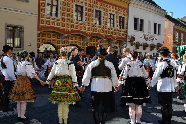 Hungarian Folk Dance at the Wine Festival                                                                           Image Credits: Cha Gla Jose Under CC by SA 2.0