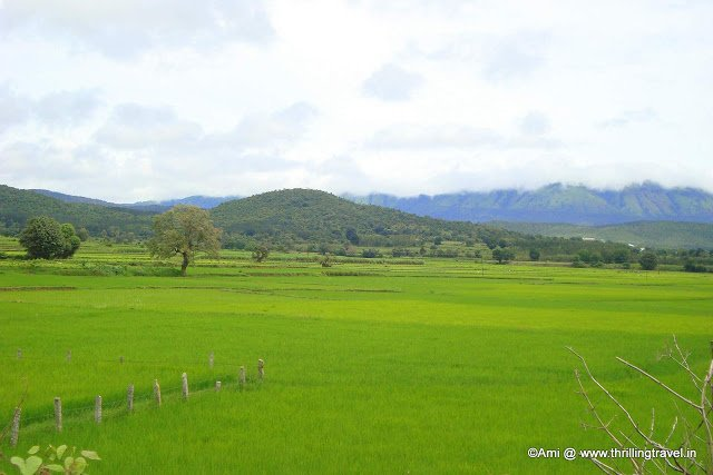 View of the Hills surrounding the Hill station Chikmagalur