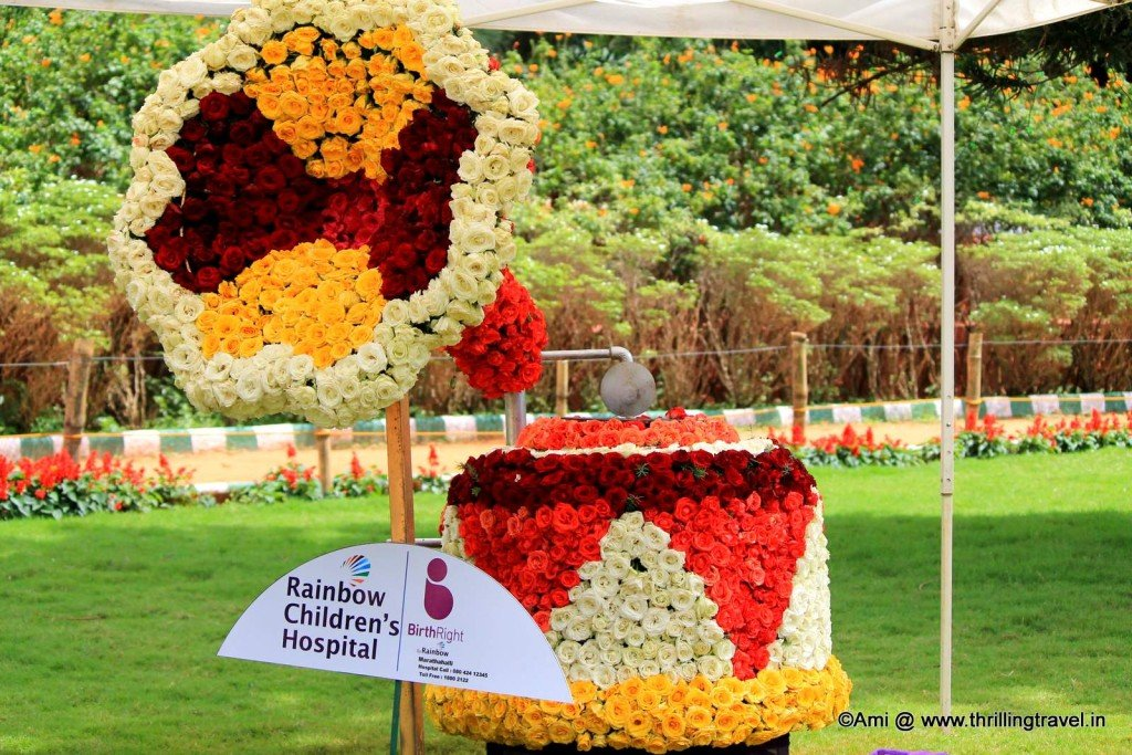 The Floral Gramophone at the flower show of Lalbagh