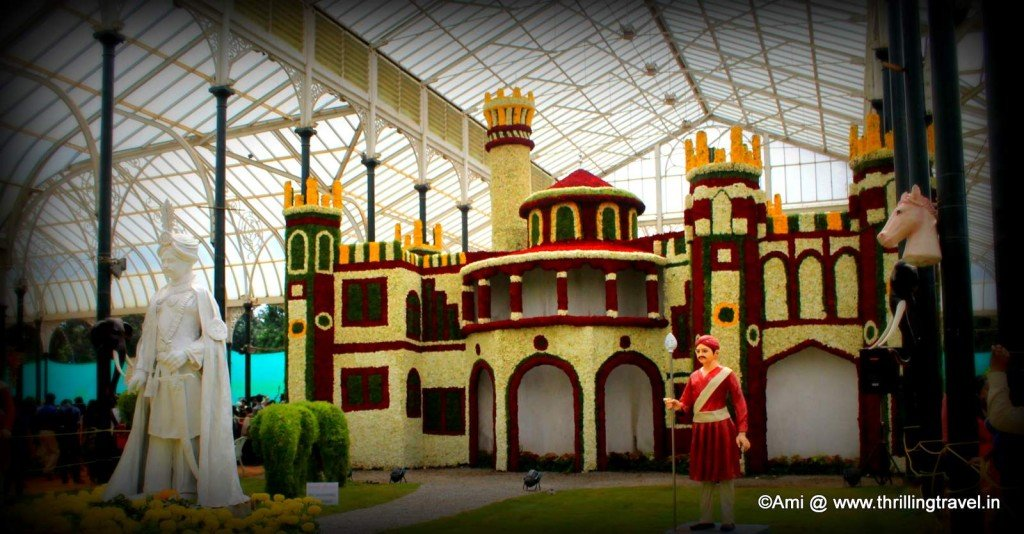 Floral Replica of the Bangalore Palace in Lalbagh