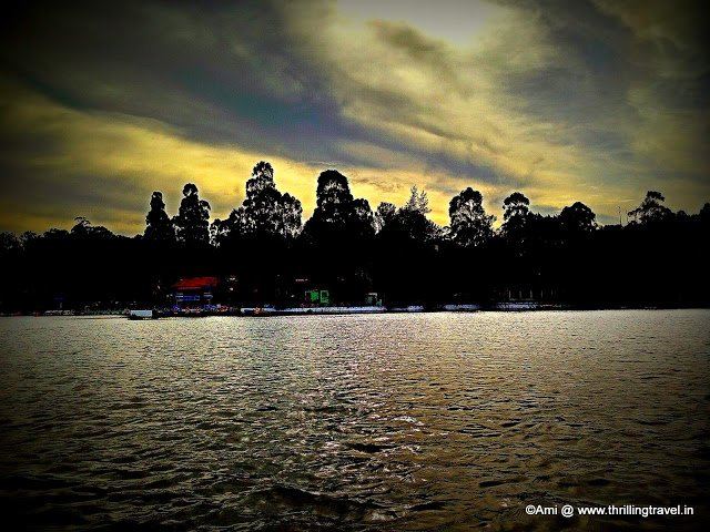 Sunset at Emerald Lake in Yercaud, Hill stations of India