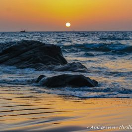 Sunset at Kudle beach - one of the best things to do in Gokarna