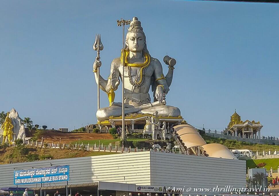 The Giant Shiva statue at Murudeshwar