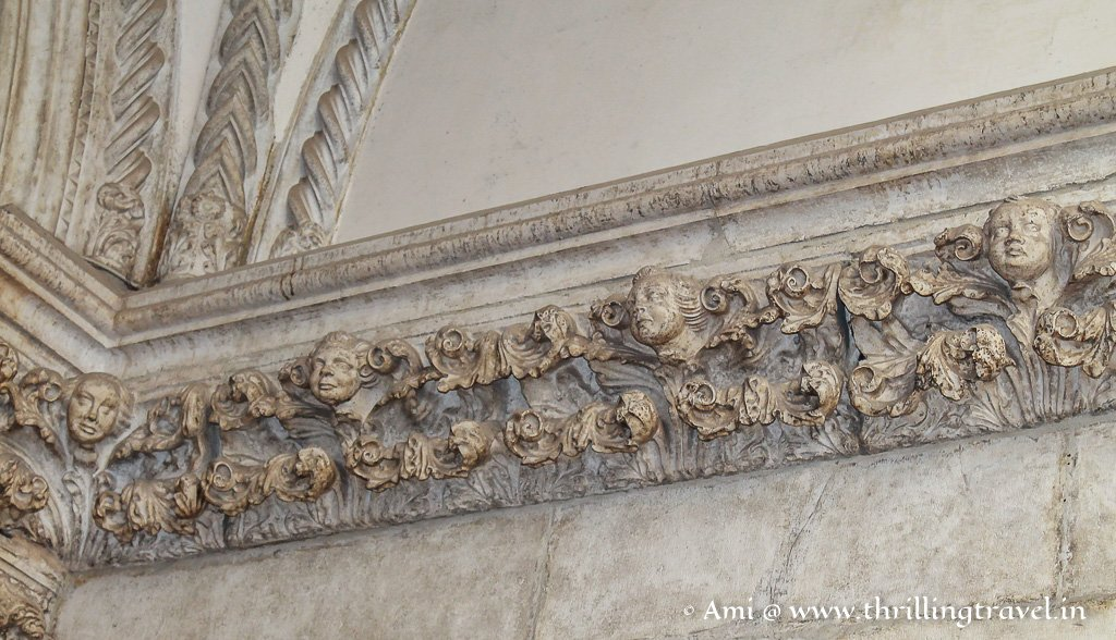 Sculpted representation of the Doge- along the Doge's Apartments in the Palazzo Ducale