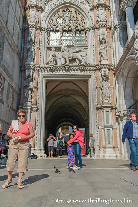 The Paper Gate - Official entrance of the Doge's palace. Note the winged lion emblem.