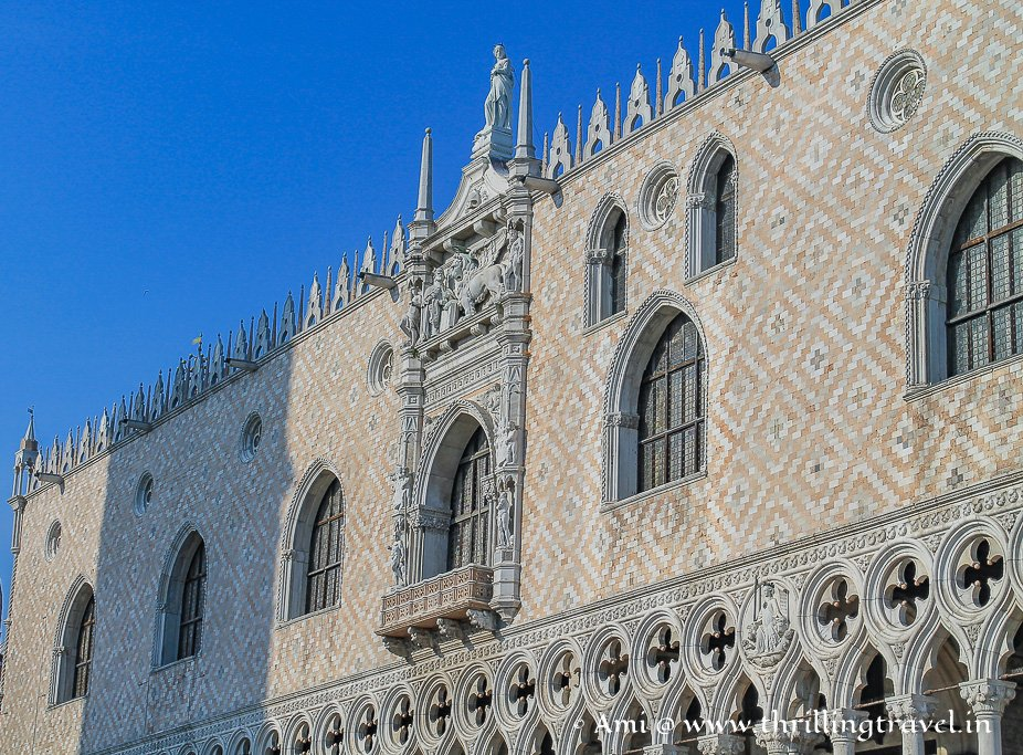 Side view of the Doge's Palace, Venice