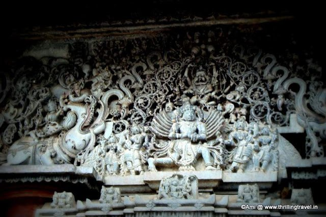Lintel showing Lord Vishnu as Narasimha