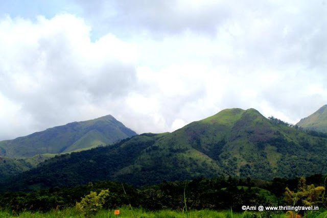 Green hills surrounding the Banasura Sagar Dam