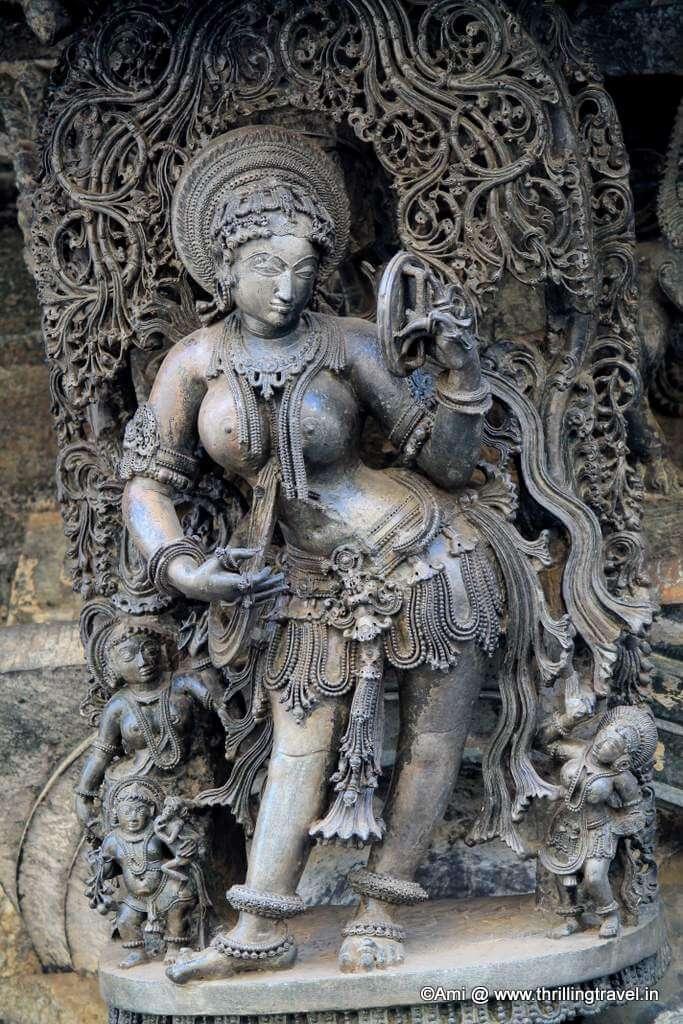 Darpan Sundari at Belur Chennakesava Temple